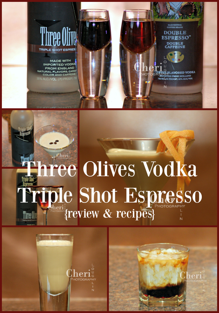 Three Olives Triple Shot Espresso Vodka review and comparison to Van Gogh Double Espresso Vodka and six new espresso recipes. Check it out.