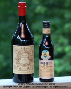 Carpano Antica and Fernet-Branca - photo copyright Cheri Loughlin