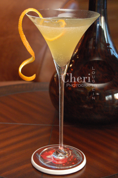 Birth of Champagne - Ritz Cocktail Cognac Premium Orange Liqueur Luxardo Maraschino Liqueur Lemon Juice Champagne Flamed Orange Peel