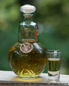 Oro Reposado Tequila Neat - photo copyright Cheri Loughlin