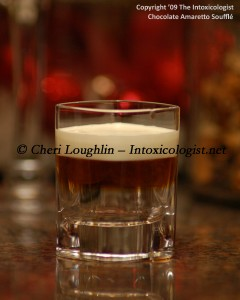 Chocolate Amaretto Souffle Shot photo copyright Cheri Loughlin
