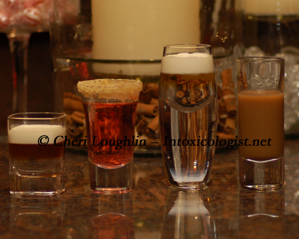 Four Holiday Dessert Shots photo copyright Cheri Loughlin