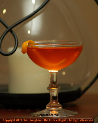 Unusual Negroni - Hendrick's Gin - photo property of Cheri Loughlin