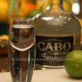 Cabo Wabo Tequila 5 with shot and limes shown - photo by Mixologist Cheri Loughlin, The Intoxicologist