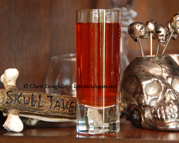 Vampire Halloween Shot {photo credit: Mixologist Cheri Loughlin, The Intoxicologist}