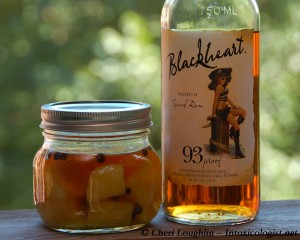 Blackheart Rum Infusion with Buttered Pineapple and Allspice - photo property of Cheri Loughlin
