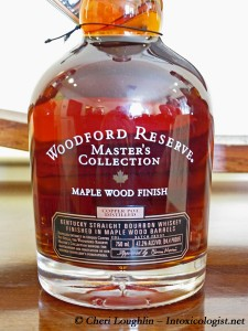 Woodford Reserve Masters Collection Maple Wood Finsih Bottle Base - photo property of Cheri Loughlin