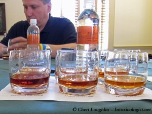 Woodford Reserve Masters Collection Tasting Samples - photo property of Cheri Loughlin