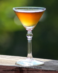 Buffalo Manhattan via Omaha - Buffalo Trace - Carpano - photo copyright Cheri Loughlin