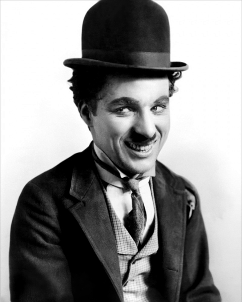 Charlie Chaplin as The Tramp low res Clip Art