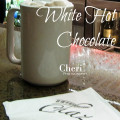 January 31 is National Hot Chocolate Day. Make this homemade White Hot Chocolate to keep warm tonight.