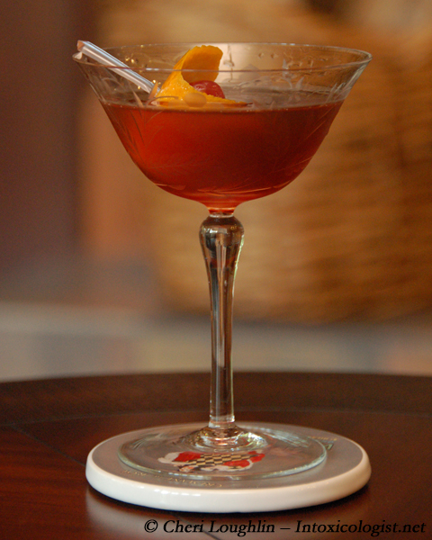 Rat Pack Manhattan {photo credit: Mixologist Cheri Loughlin, The Intoxicologist}