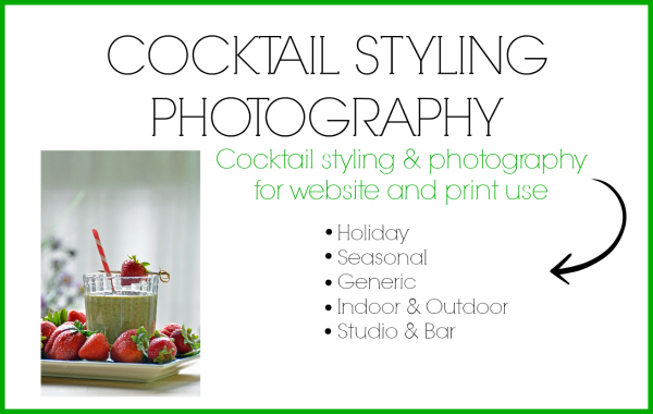 Cocktail Styling and Photography services by Cheri Loughlin at www.Intoxicologist.net