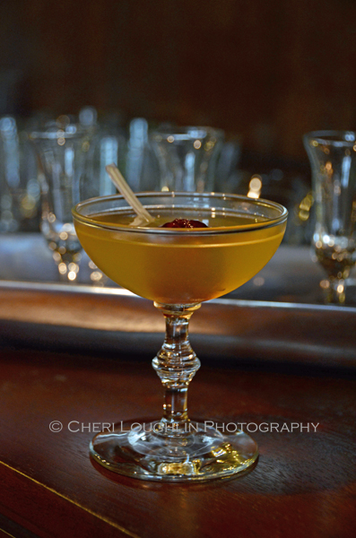 The Moon River cocktail might have you humming along to the tune of Breakfast at Tiffany's at your next Girls Night In movie watching event. – photo by Cheri Loughlin, The Intoxicologist