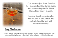 Stag Manhattan - Cocktail creation & Recipe Card Creation by Cheri Loughlin - photo copyright Cheri Loughlin