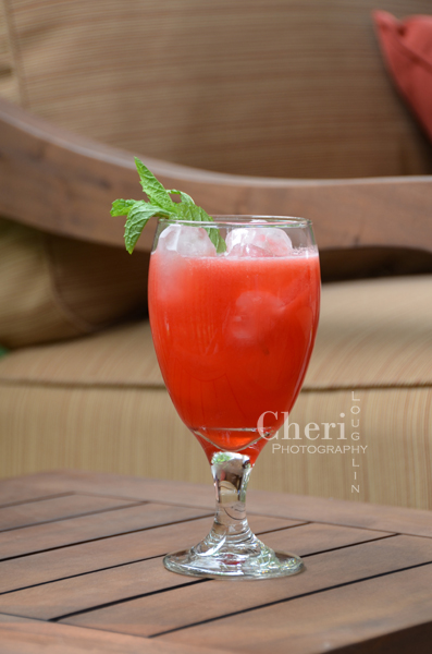 Watermelon Raspberry Mojito Mocktail - Raspberries, Mint, Watermelon Juice or Muddled Fresh Watermelon