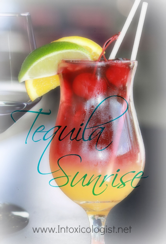 70s Cocktails: Tequila Sunrise
