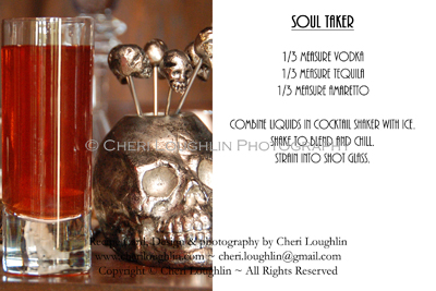 deadly potions halloween drink recipe cards
