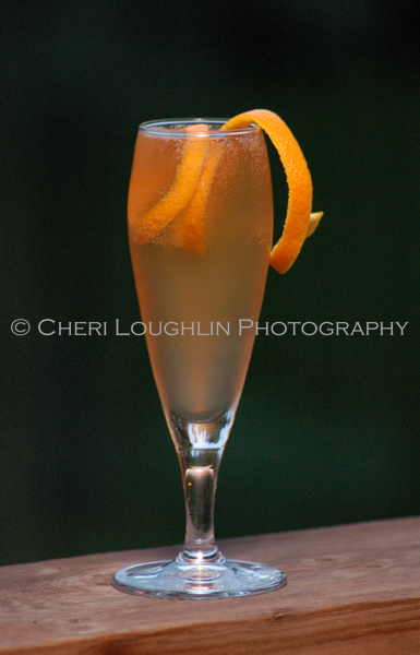 The Seelbach Cocktail is a classic cocktail made with bourbon, orange liqueur, two different bitters and champagne topper. Wonderful! - photo by Cheri Loughlin, The Intoxicologist