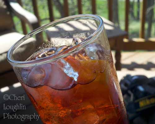 The classic Americano recipe is so full bodied, I prefer to thin out the lushness for warmer weather sipping. My ratio is 1 ounce Campari, 1 ounce Sweet Vermouth, 2 ounces Club Soda. The vibrant color and flavor still abound with gentler sip. - photo by Cheri Loughlin, The Intoxicologist