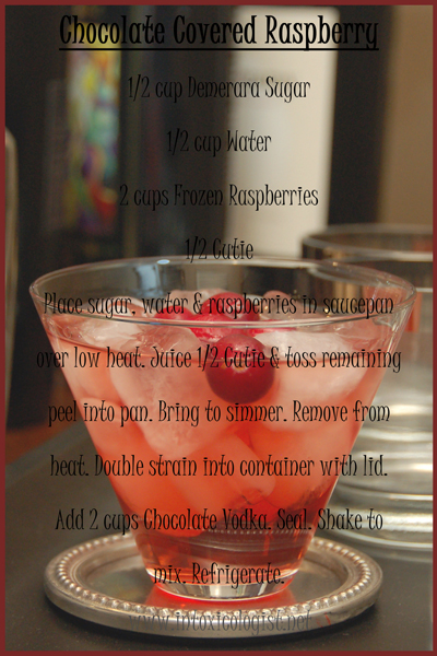 "Homemade Chocolate Raspberry ""Liqueur"""