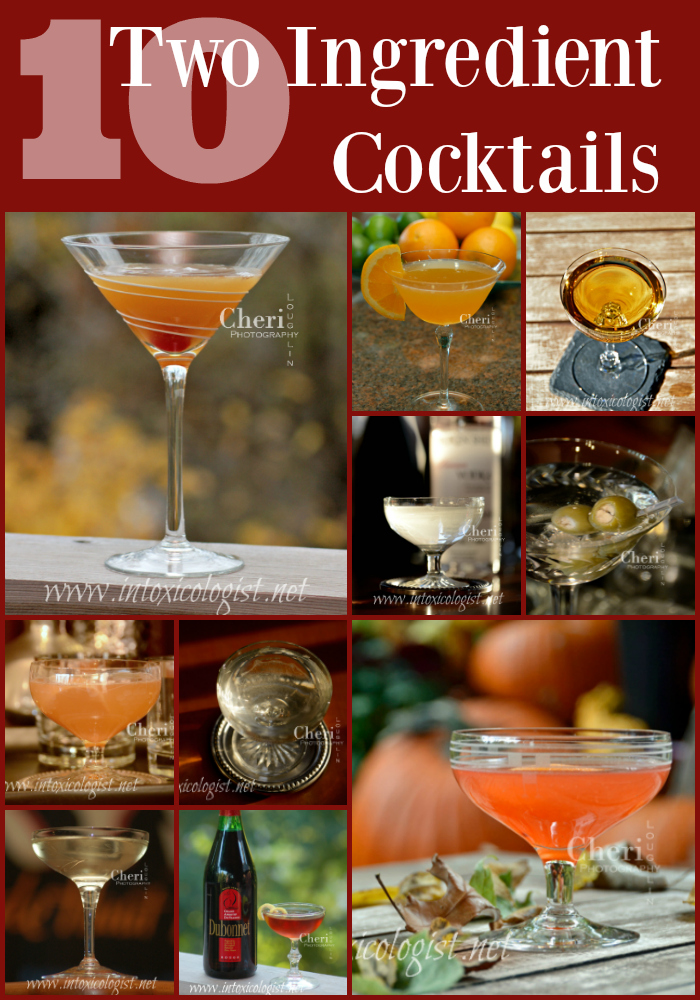Mixing cocktails at home doesn't have to be a chore. Find a few two ingredient cocktails and tweak them exactly the way you like them.
