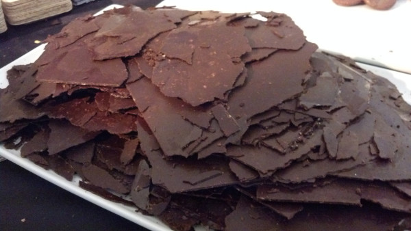 60 percent Dark Chocolate Sheets Melt in your with with lays potato chips in it