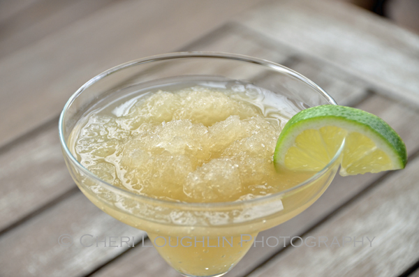No Blender Frozen Modern Margarita is a DIY Ready-to-Drink frozen cocktail – recipe and photo by Mixologist Cheri Loughlin, The Intoxicologist