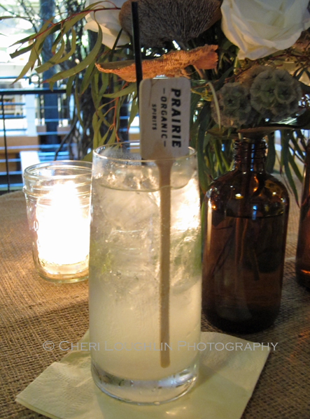 Prairie Organic Spirits Prairie Made Dinner - Bootlegger - photo by Cheri Loughlin, The Intoxicologist