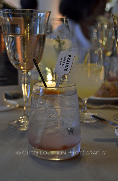 Prairie Organic Spirits Prairie Made Dinner - Rhubarb Fizz - photo by Cheri Loughlin, The Intoxicologist