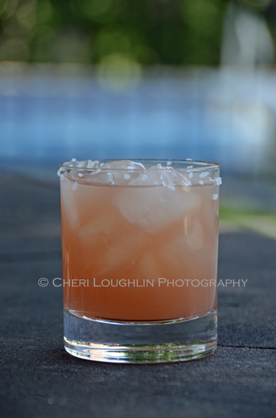 This South Pacific recipe is a rum and passion fruit influenced tropical variation of the Salty Dog - recipe & photo by Mixologist Cheri Loughlin, The Intoxicologist