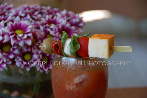 Bloody Mary with Brunch Style Cocktail Garnish