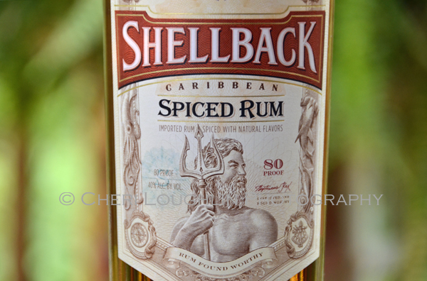 Shellback Spiced Rum 020 Front Label Close Up