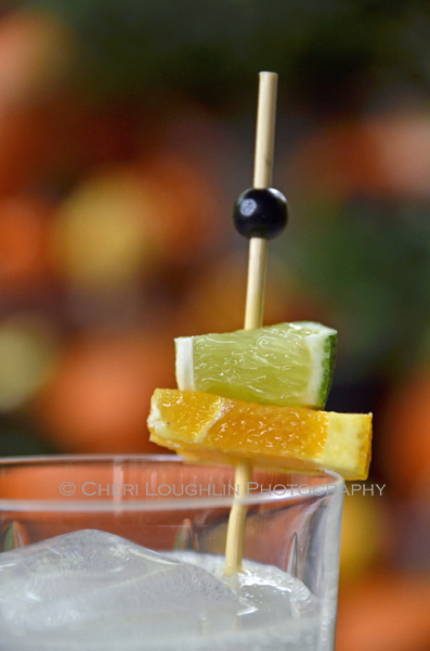Dress your drink with simple colors suitable to the occasion. This keeps the glass presentable, festive and less messy. White Witch Halloween Cocktails - {photo credit: Mixologist Cheri Loughlin, The Intoxicologist - www.intoxicologist.net}