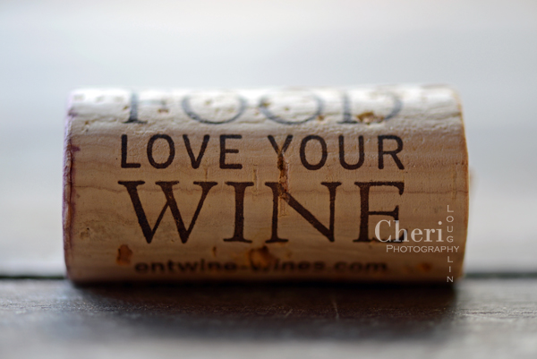 Love Your Food Love Your Wine wine cork {Cheri Loughlin Photography}