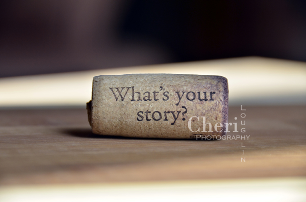 What's Your Story Wine Cork {Cheri Loughlin Photography}