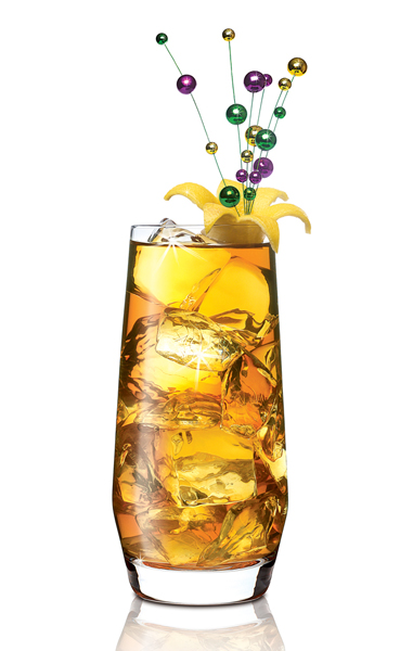 Fat Tuesday Iced Tea  2 ounces SKYY Infusions Citrus 1 ounce Lemonade 3 ounces Sweet Iced Tea Lemon Wedge Garnish
