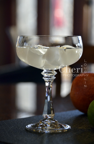 Make sure your martini glass or coupe is well chilled and your liquids are equally ice cold before straining into the glass.