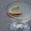 White Peach Sangria Martini - Barefoot Moscato Wine, Peach Vodka, Premium Orange Liqueur