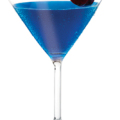 Gummy Worm Martini 1-1/2 ounces Three Olives Mango Vodka 1-1/2 ounces Three Olives Raspberry Vodka 1/2 ounce Blue Curacao 1 ounce Lemon-Lime Soda Maraschino Cherry