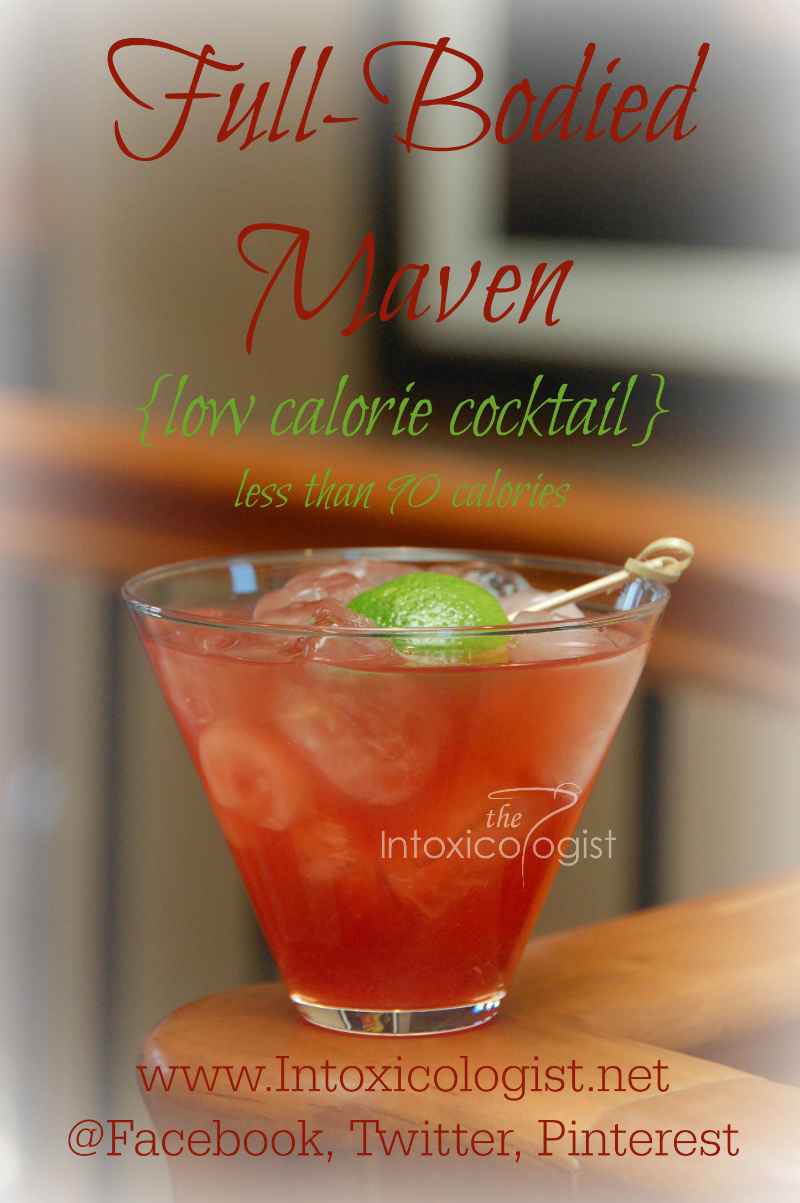 Full-Bodied Maven burst with punch-like flavor. The flavor is full-bodied without being overly sweetened. Full-Bodied Maven is a full size, full flavored cocktail for less than 90 calories.