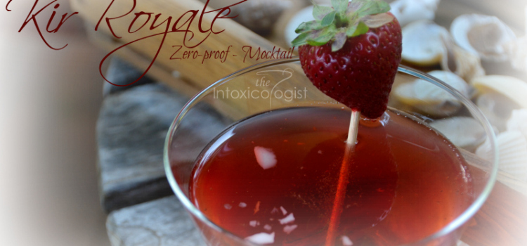 Zero-Proof Kir Royale Mocktail