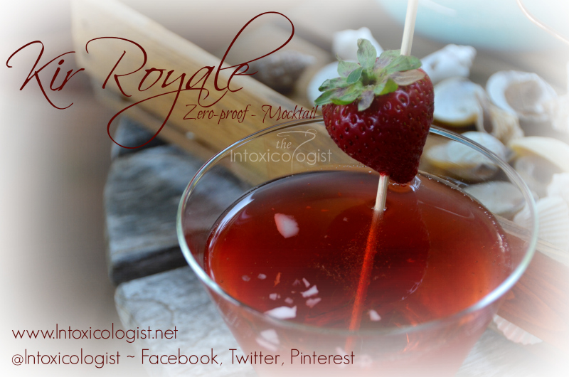 This Kir Royale mocktail is perfect for those who prefer to keep a clear head. It's easy to make with two liquid ingredients and presents beautifully.