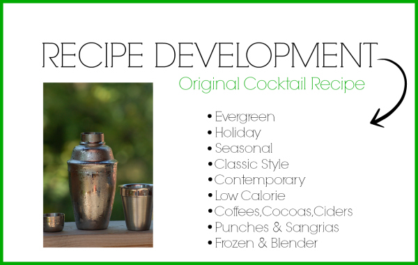 Beverage Recipe Development Services by Cheri Loughlin at www.intoxcologist.net