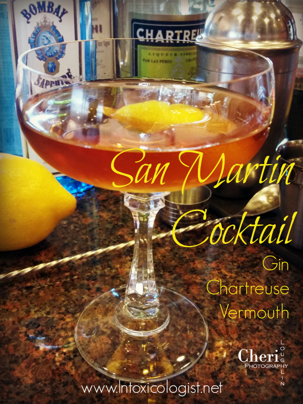 "The San Martin cocktail is simply delicious. The first word I wrote on my tasting notes was, ""YUM!"""