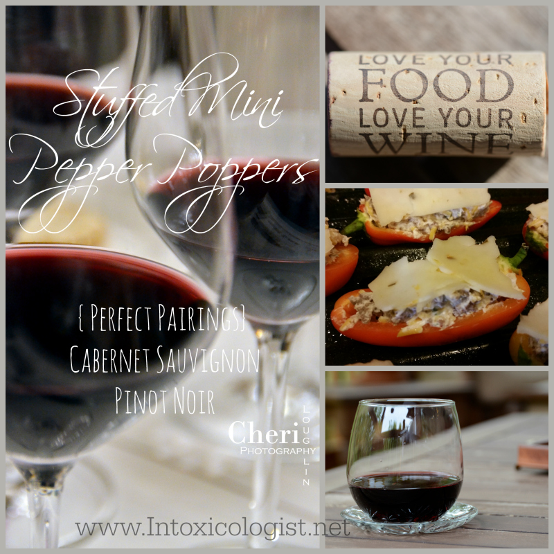 Mini Pepper Poppers with  Wine Pairing