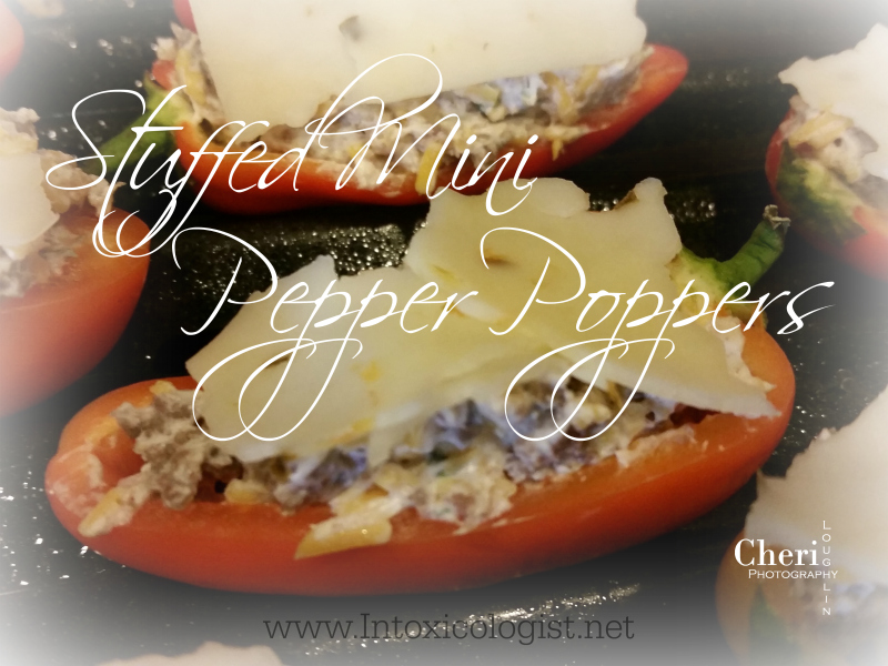 Stuffed Mini Pepper Poppers