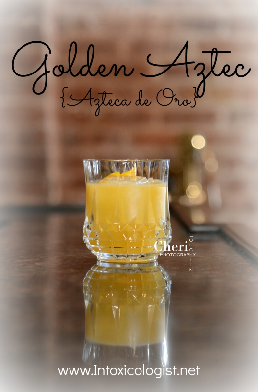 Golden Aztec - 1 of 4 easy tequila drinks for National Tequila Day, July 24