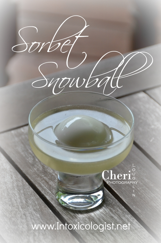 Sorbet Snowball hits the spot as an adult cooling summertime treat. It's super easy to make with two ingredients; lemon sorbet and chilled moscato wine.