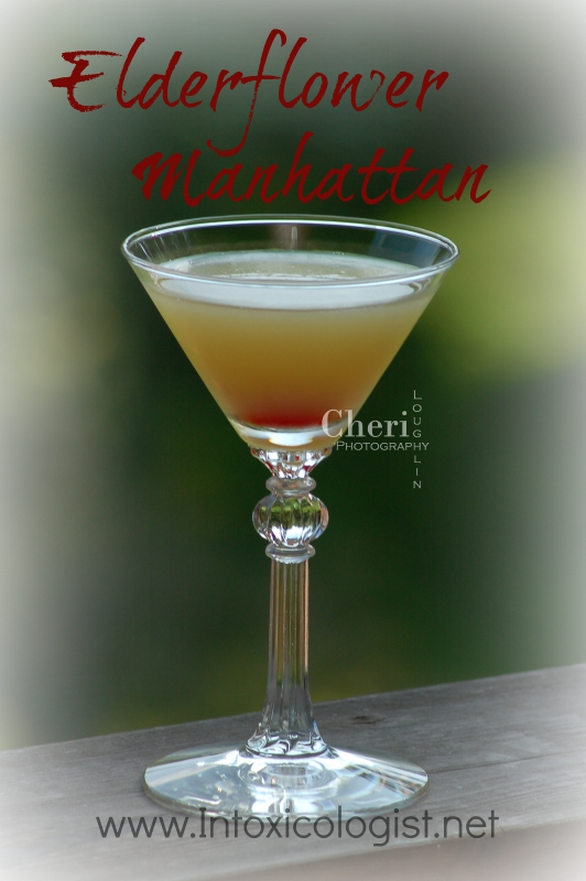 Elderflower Manhattan: September is National Bourbon Month. You know what to do.
